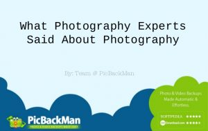 What Photography Experts Said About Photography