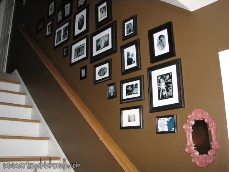Creative Picture Wall Ideas for Stairs 3