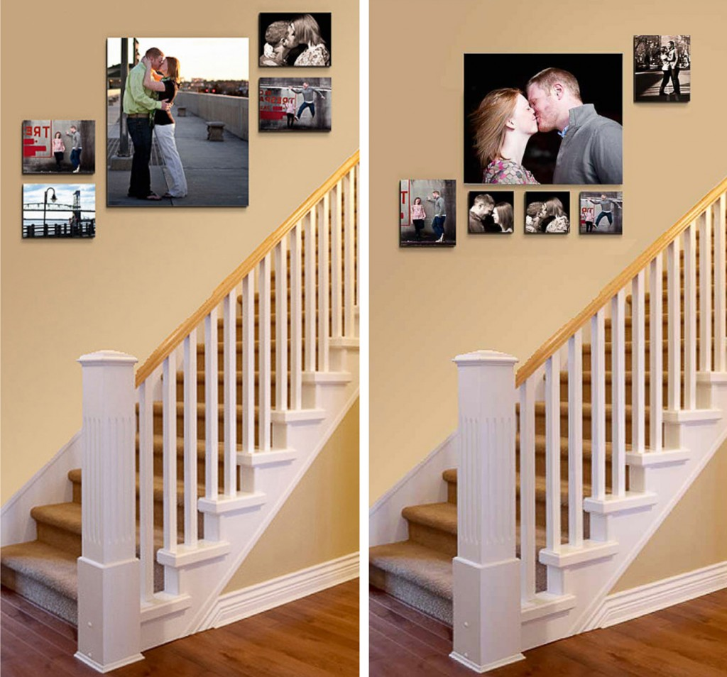 25+ Best Picture Wall Ideas for Stairs | PicBackMan