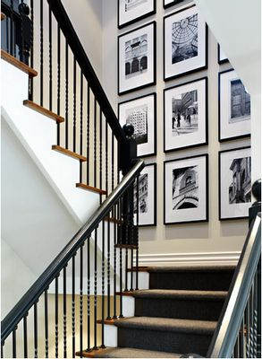 Useful Picture Wall Ideas for Stairs 7