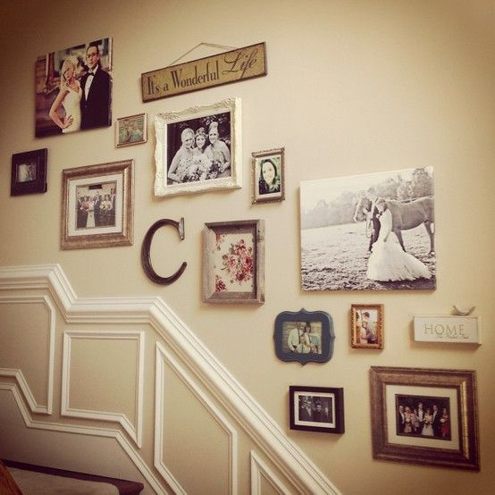 Cool Picture Wall Ideas for Stairs 2