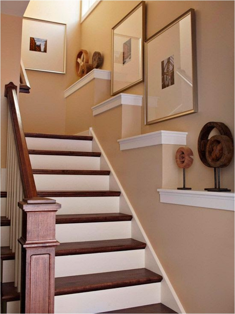 Creative Picture Wall Ideas for Stairs 2