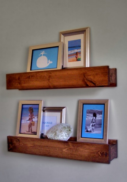 Gallery Wall Idea #21 - Barn Beam Shelves