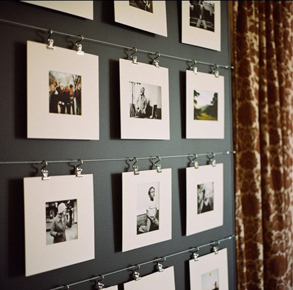 Photo Wall Display Idea #74