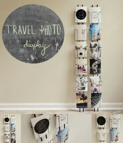 Gallery Wall Idea #2 - Postcard Racks