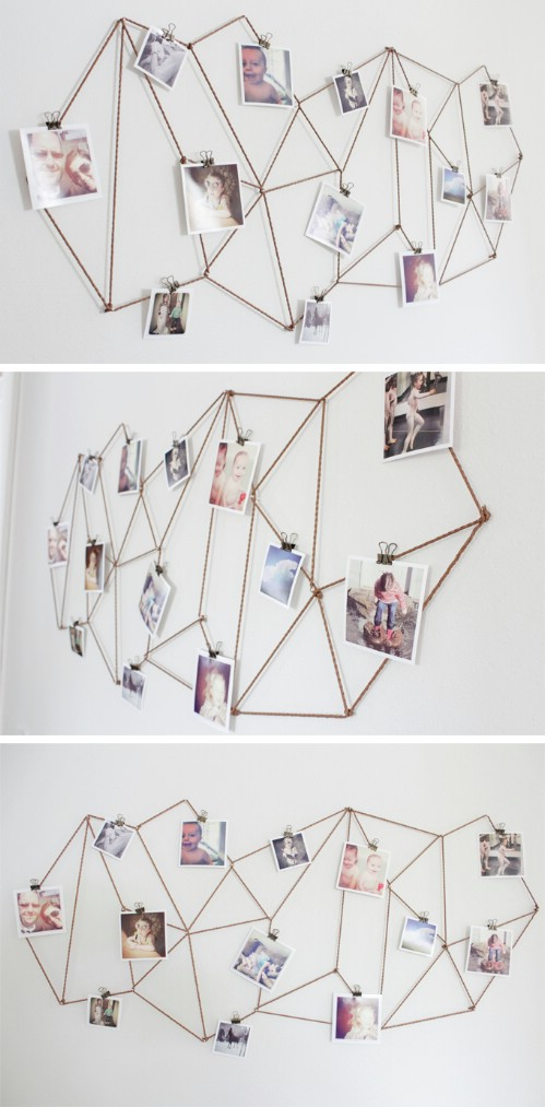 Gallery Wall Idea #3 - Geometric Wiring