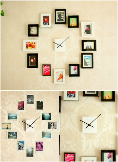 Gallery Wall Idea #5 - Photo Clock