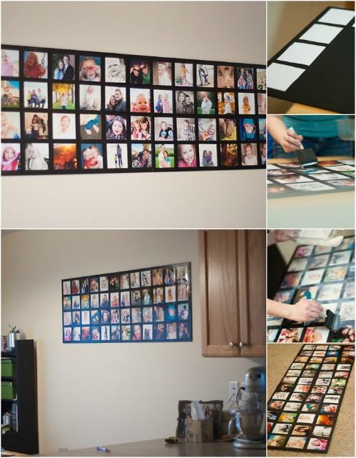 Photo Wall Display Idea #82