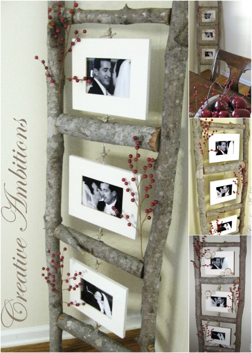 Gallery Wall Idea #8 - Handmade Ladder