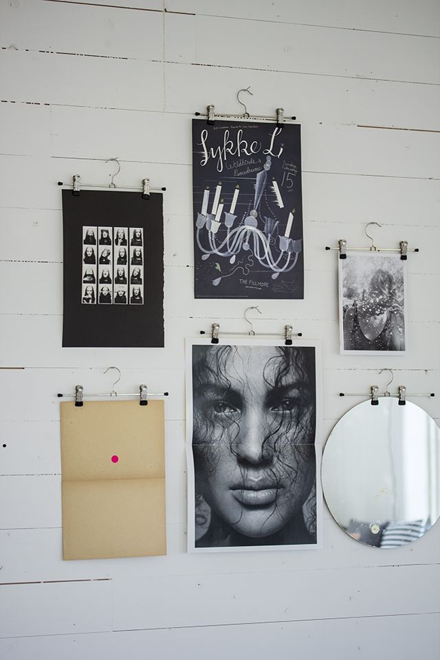 Gallery Wall Idea #9 - Use Hangers