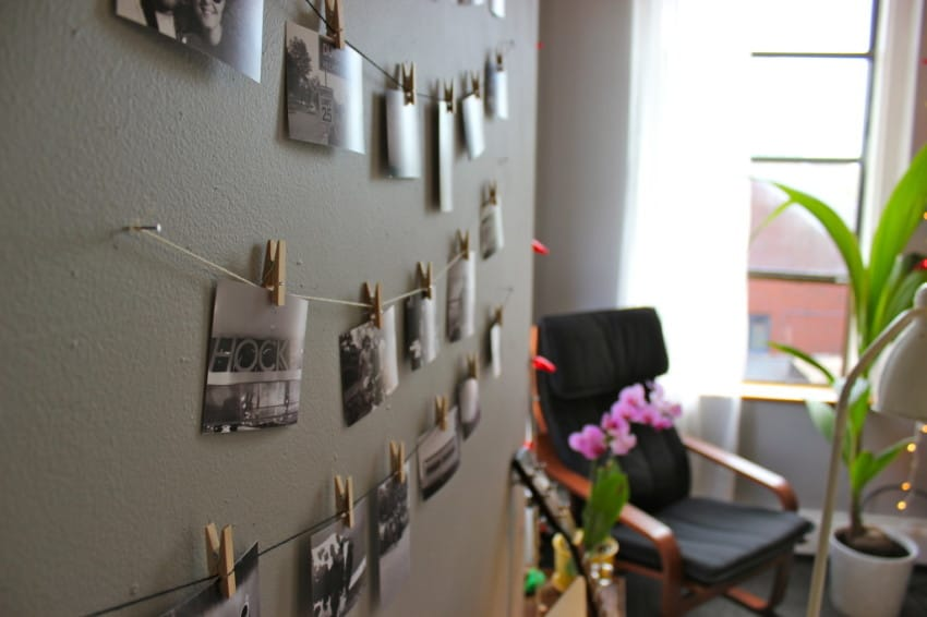 Gallery Wall Idea #12 - Use Clothespins
