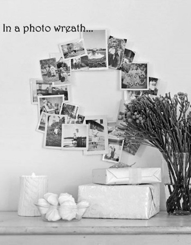 Gallery Wall Idea #13 - Photo Wreath