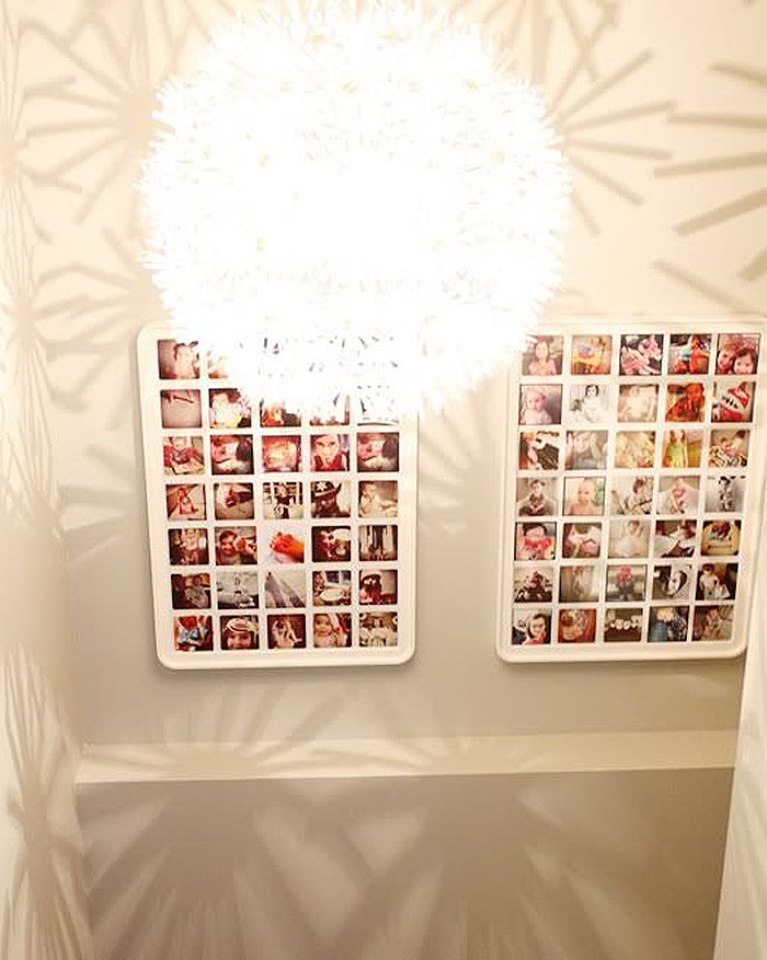 Gallery Wall Idea #14 - Lighting & Photo Frame