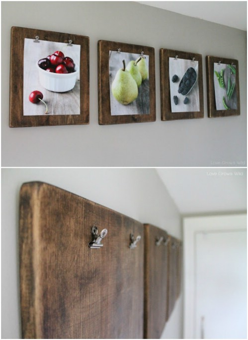 Gallery Wall Idea #18 - Clipboard Gallery Wall