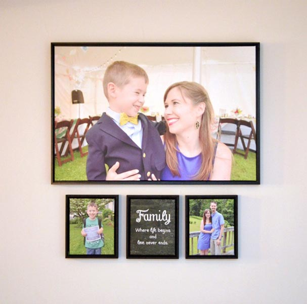Photo Wall Display Idea #27