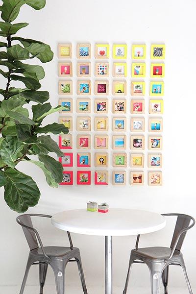 Photo Wall Display Idea #33