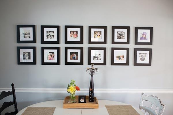 Photo Wall Display Idea #34