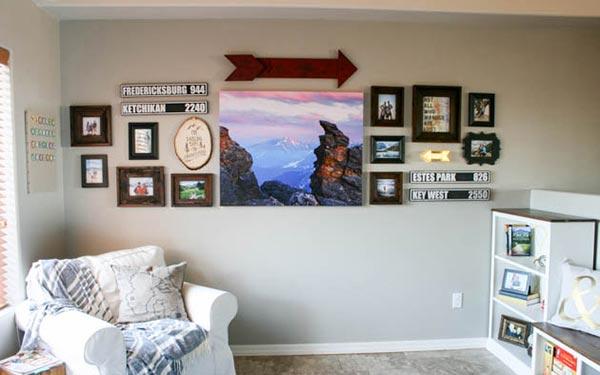 Photo Wall Display Idea #35