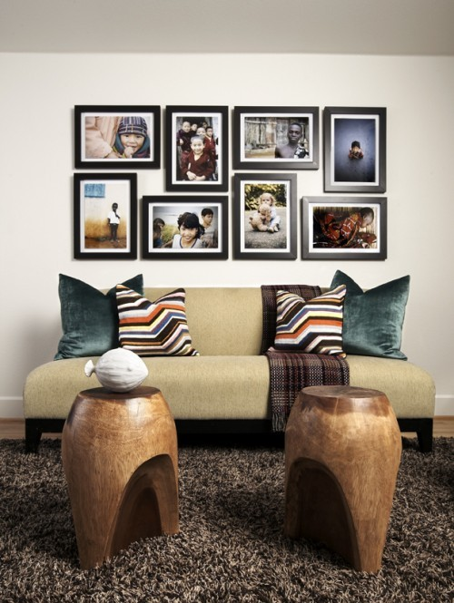 Photo Wall Idea #1 To Display Family Photos