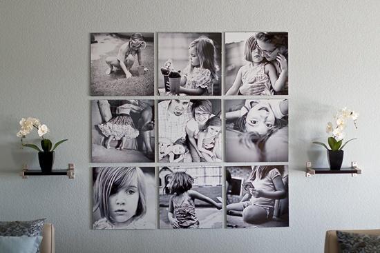 Photo Wall Display Idea #1