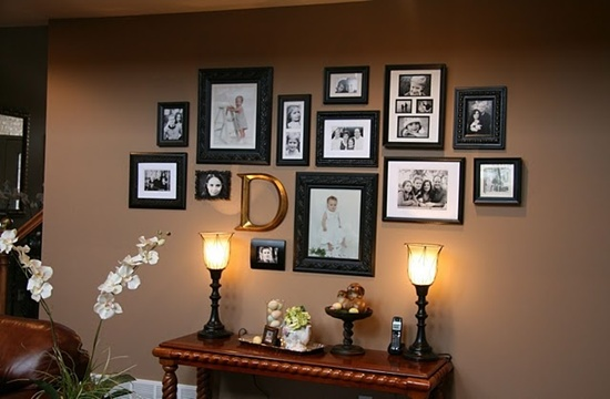 Photo Wall Idea #12 To Display Family Photos
