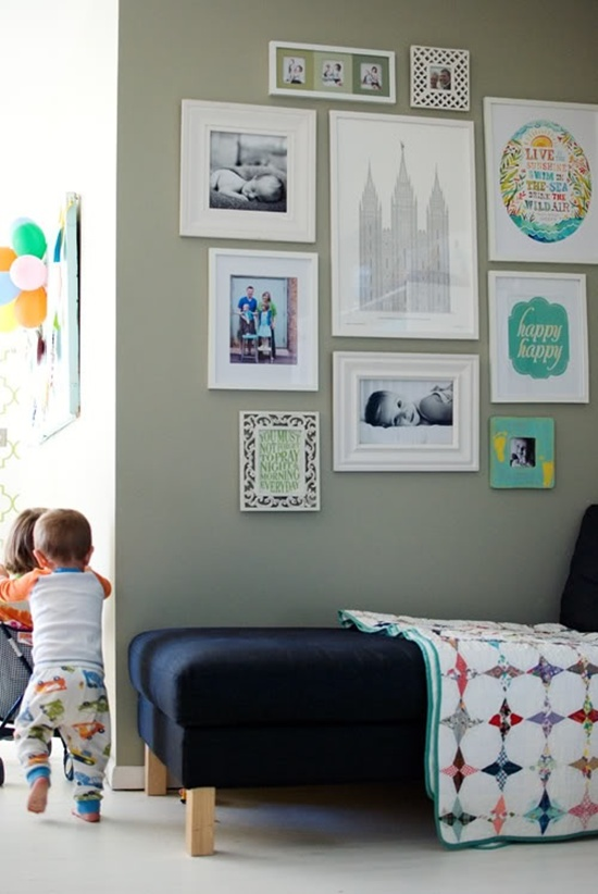 Photo Wall Idea #13 To Display Family Photos