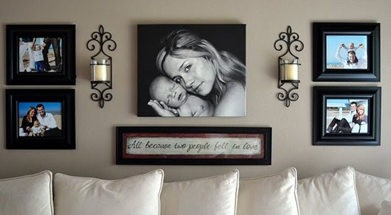 Photo Wall Idea #14 To Display Family Photos