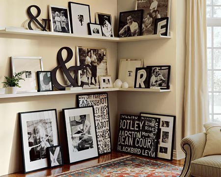 Photo Wall Idea #2 To Display Family Photos