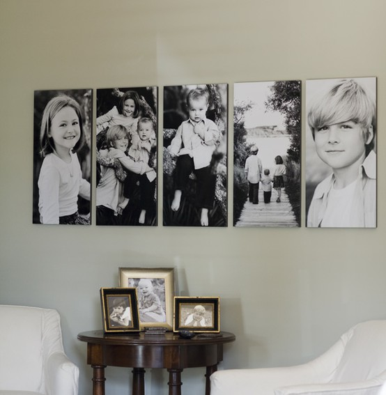 Unique Idea For Designing a Photo Wall #15