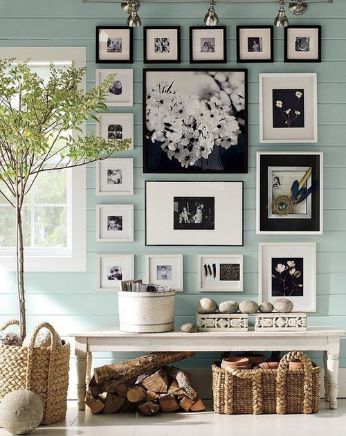 Photo Wall Idea #8 To Display Family Photos
