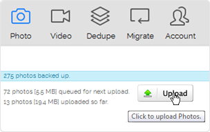 Click Upload. Done!