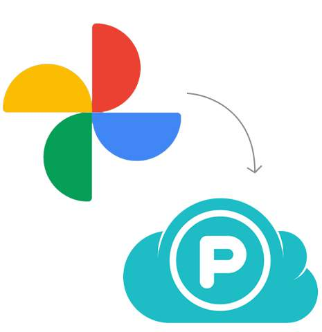 Transfer from Google Photos to pCloud