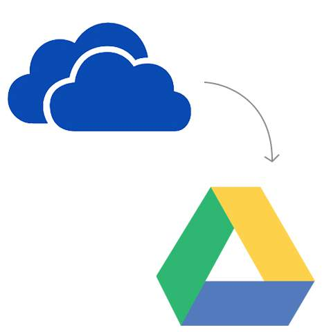 Transfer from OneDrive to Google Drive